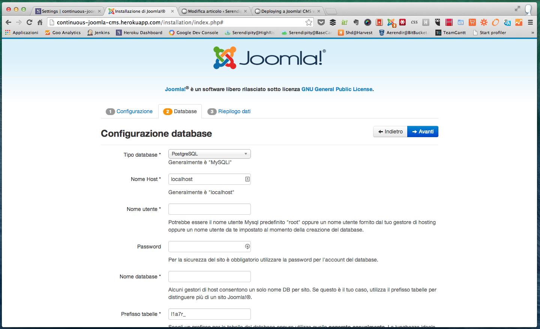 Continuous-Joomla-Cms-Heroku-Installation-PostgreSQL